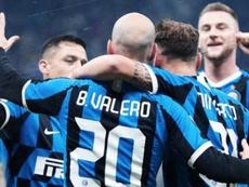 El Inter goleó al Cagliari en la Coppa Italia. Twitter/Inter_es