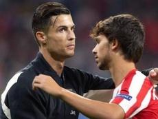 Joao Felix racconta il primo allenamento con Ronaldo. AFP