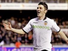 El Valencia prepara un homenaje a David Villa. EFE