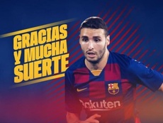 O Barça empresta Abel Ruiz ao Braga. Twitter/FCBarcelonaB