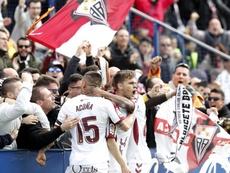 El Albacete ganó en Gijón y le pasó la pelota al Granada. LaLiga/Archivo