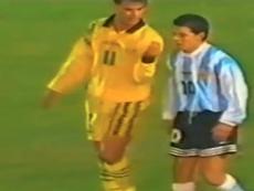 Gallardo se vio burlado por un futbolista australiano. Captura/Olé