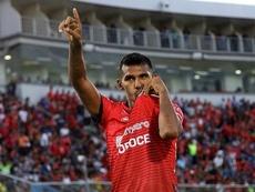 Gilbert Alvárez se perderá el debut de su equipo en Copa Libertadores. JorgeWilstermann
