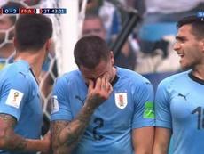 Giménez não escondeu as lágrimas. Captura
