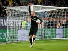 Hat-trick de Haaland em sua estreia pelo Dortmund. Twitter/BVB