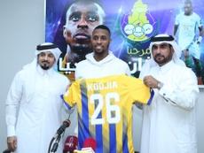 Kodjia firma por dos temporadas y media. Twitter/ALGHARAFACLUB