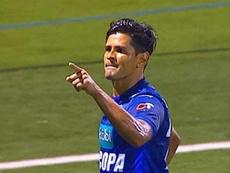Soto anotó un doblete. Captura/TeleticaDeportes