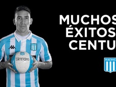 OFICIAL: Racing traspasa a Centurión a Vélez. Twitter/RacingClub