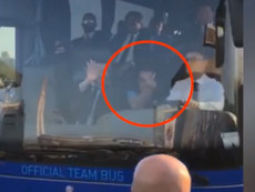 Sarri avait fait un doigt d'honneur aux supporters de la Juve. Capture/DirectTVSports