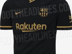 Des images du possible maillot away du Barça pour la saison 2020-21 dévoilées. FootyHeadlines