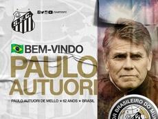 Autuori se suma a la dirección deportiva de Santos. Twitter/SantosFC