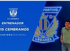 Luis Cembranos, nuevo entrenador del filial del Leganés. Twitter/CDLeganés