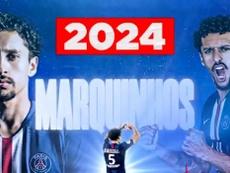 Marquinhos, renewed until 2023. Twitter/PSG_inside