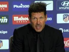 Simeone habló sobre la roja a Molina y la nueva norma. Captura/MEGA