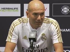 Zidane volvió a comparecer ante los medios. Captura/RealMadridTV