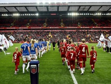 Anfield albergó por primera vez un partido de fútbol femenino. Twitter/LiverpoolFCW