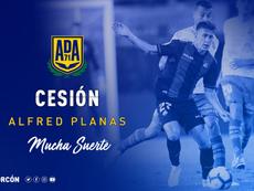 Alfred Planas, nuevo jugador del Valencia Mestalla. ADAlcorcon