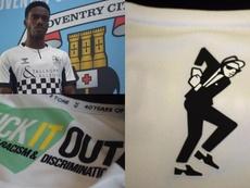 Una tercera camiseta homenaje al histórico Two-Tone. Twitter/Coventry_City
