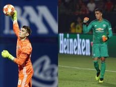 Las dos opciones del United ante la posible marcha de De Gea. AFP/GNKDinamo