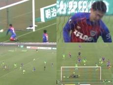 Morishige enmendó un autogol con este golazo sensacional. Captura/JLeague