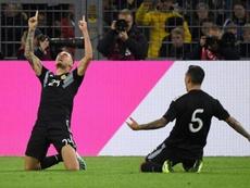 Ocampos calificó su debut como el soñado. AFP