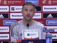 Luis Enrique analizó el sorteo de la Liga de las Naciones de la UEFA. EFE