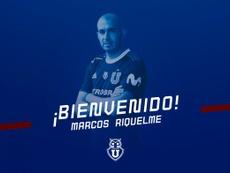 Marcos Riquelme, nuevo jugador de Universidad de Chile. Twitter/udechile