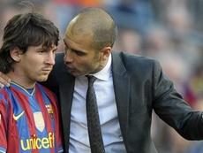 Messi praised Guardiola and Luis Enrique. EFE