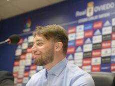 El Burgos quiere a Michu como director deportivo. Twitter/RealOviedo