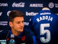 Radoja es positivo ante el choque ante Osasuna. Levante