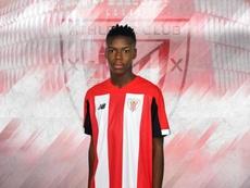 El hermano de Iñaki Williams, Nico, convocado por la Sub 18 de España. Twitter/AthleticClub