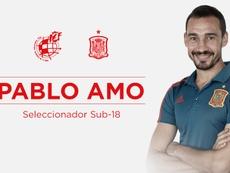 Pablo Amo, nuevo seleccionador de la Sub 18 española. Twitter/SeFutbol