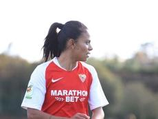 Pancha Lara abandona el equipo hispalense. Twitter/SevillaFC_Fem