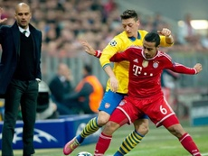Rafinha culpó a Guardiola de lo que es Thiago hoy en día. EFE