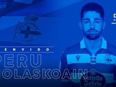 El Deportivo anuncia la llegada de Nolaskoain. Twitter/RCDeportivo