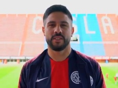 Ramón Arias, motivado para su nueva etapa. Twitter/SanLorenzo
