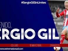 El Extremadura se lleva a Sergio Gil. Twitter/EXT_UD