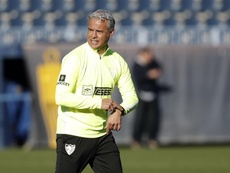 Sergio Pellicer aboga por jugar este peculiar partido desde casa. Twitter/MalagaCF