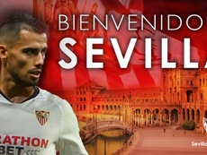 Suso ya es jugador del Sevilla. Twitter/SevillaFC
