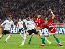 Cavani y Brian Rodríguez marcaron con siete minutos de diferencia. Twitter/Uruguay