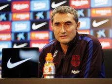 Valverde a de nouveau encensé Leo Messi en conférence de presse. Twitter/FCBarcelona