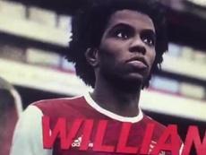 Willian, al Arsenal según el PES 2021. Captura/TheSun