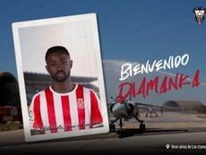 Pape Diamanka llega cedido al Albacete. Twitter/AlbaceteBPSAD