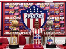 Stiwart Acuña llega a Junior. Twitter/JuniorClubSA