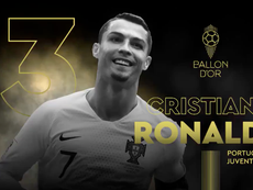 Ronaldo came 3rd in the Ballon d'Or. Twitter/FranceFootball