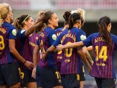 Glasgow City face a tough UWCL tie with FC Barcelona Femeni this week. TWITTER/GLASGOWCITYFC