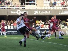 Mauro fue el autor del único gol del choque. Twitter/FCCartagena