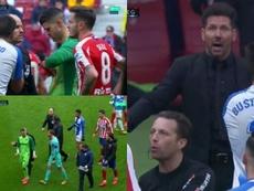 Atlético-Leganés terminou com polêmicas. Captura/MovistarLaLiga