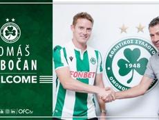 El Omonia Nicosia firma a Hubocan. Twitter/OMONOIAfootball
