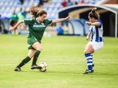 Alba Merino anotó el tanto de la victoria. Twitter/RCDeportivo